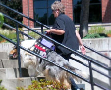 Woman with smooth coat Collie service Dog in Corvallis, Oregon Kings Valley Collie
