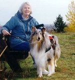 Kings Valley Collies mobility dog Sera with his partner, Cindy.