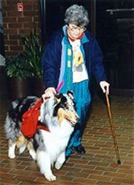 Service dog Sheila with Blessing